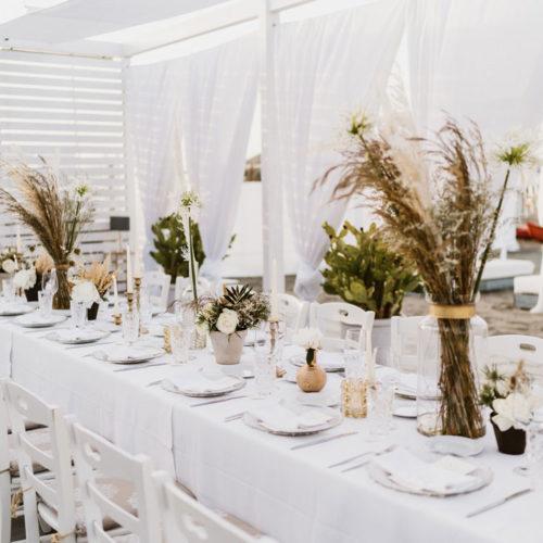foto matrimonio allestimento bianco e oro