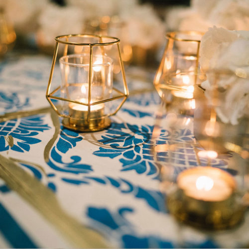 foto matrimonio blue and gold