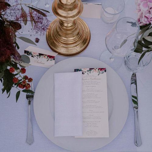 foto matrimonio menu e segnaposto