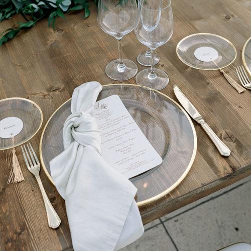 foto matrimonio piatto trasparente