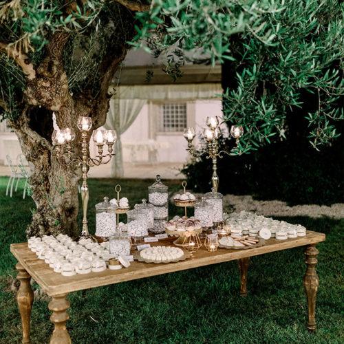 foto matrimonio tavolo dolci