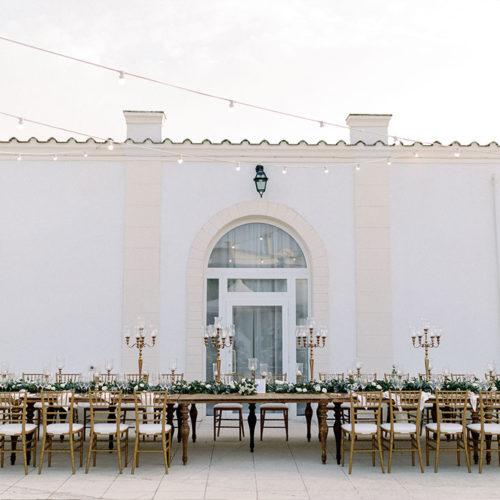 foto matrimonio tavolo imperiale in legno