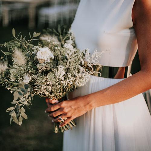 foto matrimonio bouquet verde