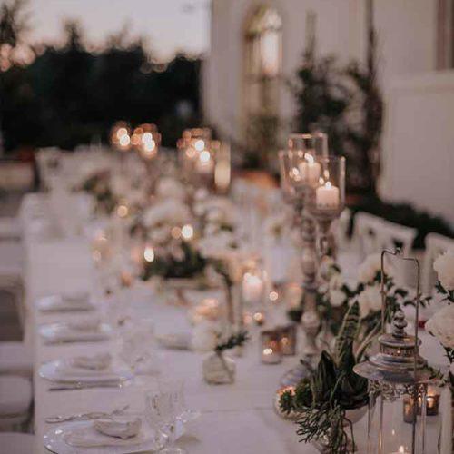 foto matrimonio cena a lume di candela