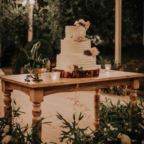 foto matrimonio green wedding cake