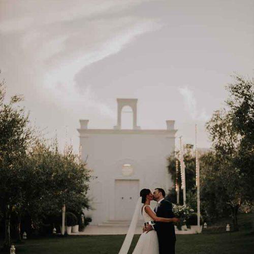 foto matrimonio sposi all imbrunire